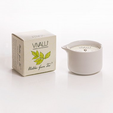 candela massaggio matcha e green tea